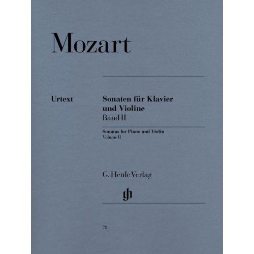 HENLE VERLAG MOZART W.A. - SONATAS FOR PIANO AND VIOLIN, VOLUME II