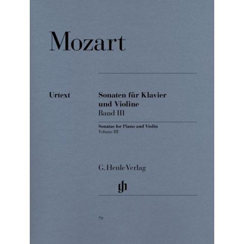 HENLE VERLAG MOZART W.A. - SONATAS FOR PIANO AND VIOLIN, VOLUME III