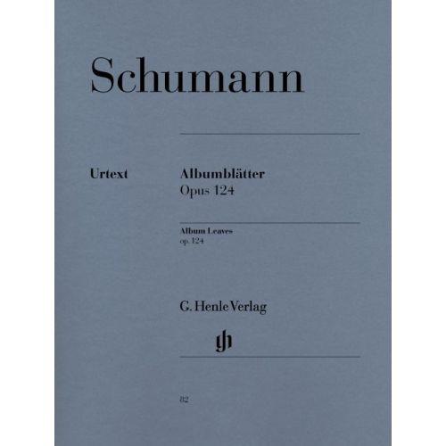 HENLE VERLAG SCHUMANN R. - ALBUM LEAVES OP. 124