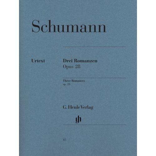 HENLE VERLAG SCHUMANN R. - 3 ROMANCES OP. 28