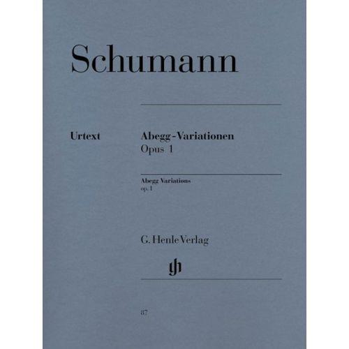 HENLE VERLAG SCHUMANN R. - ABEGG VARIATIONS F MAJOR OP. 1