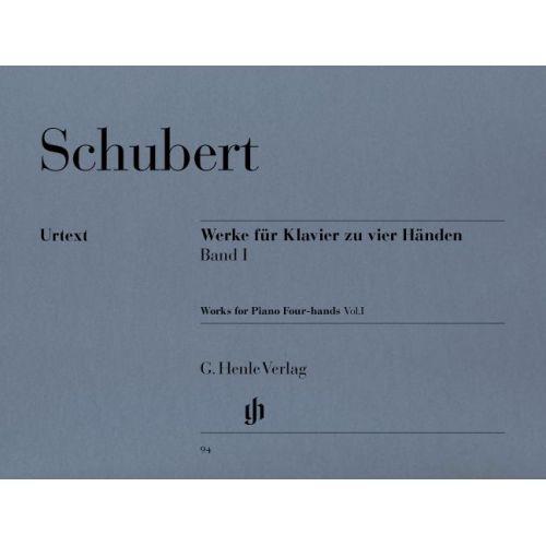 HENLE VERLAG SCHUBERT F. - WORKS FOR PIANO FOUR-HANDS, VOLUME I