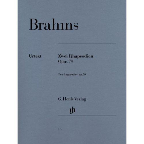 HENLE VERLAG BRAHMS J. - 2 RHAPSODIES OP. 79