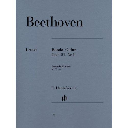 HENLE VERLAG BEETHOVEN L.V. - RONDO C MAJOR OP. 51,1 - PIANO
