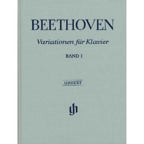 HENLE VERLAG BEETHOVEN L.V. - VARIATIONS FOR PIANO, VOLUME I