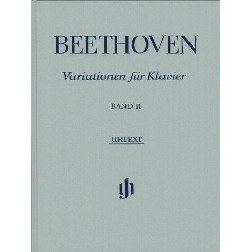 HENLE VERLAG BEETHOVEN L.V. - VARIATIONS FOR PIANO, VOLUME II