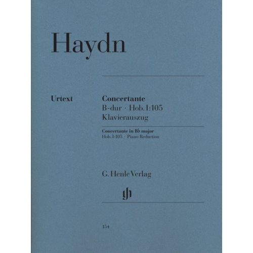 HENLE VERLAG HAYDN J. - CONCERTANTE FOR OBOE, BASSOON, VIOLIN, VIOLONCELLO AND ORCHESTRA HOB. I:105