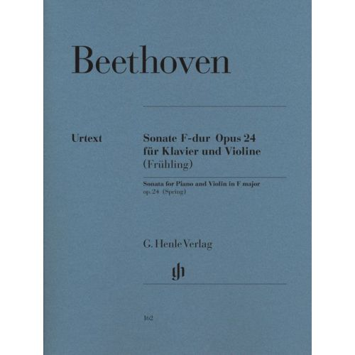 HENLE VERLAG BEETHOVEN L.V. - SONATA FOR PIANO AND VIOLIN F MAJOR OP. 24 (SPRING SONATA)