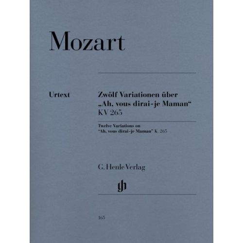 HENLE VERLAG MOZART W.A. - 12 VARIATIONS ON