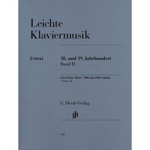 HENLE VERLAG EASY PIANO MUSIC - 18TH AND 19TH CENTURY, VOLUME II