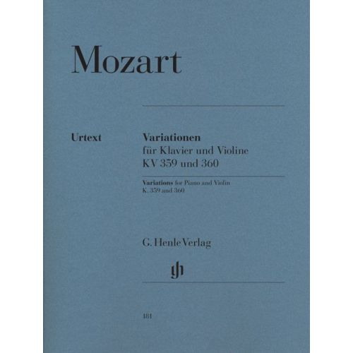HENLE VERLAG MOZART W.A. - VARIATIONS FOR PIANO AND VIOLIN