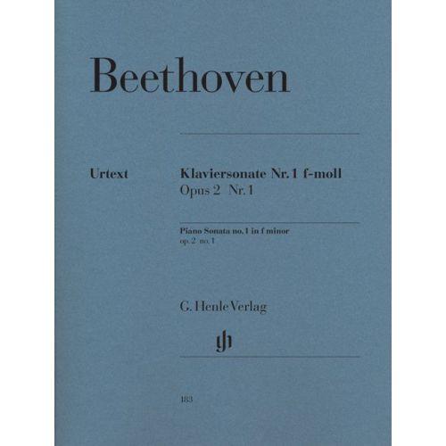 HENLE VERLAG BEETHOVEN L.V. - PIANO SONATA NO. 1 F MINOR OP. 2,1