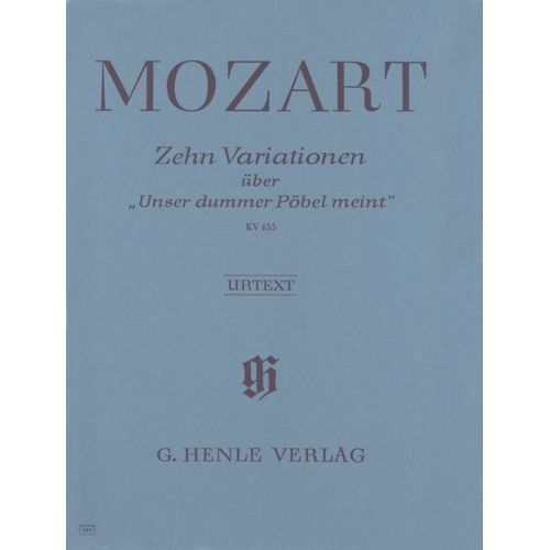 HENLE VERLAG MOZART W.A. - 10 VARIATIONS ON