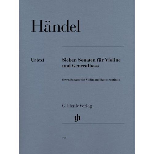 HENLE VERLAG HAENDEL G.H. - 7 SONATAS FOR VIOLINE AND BASSO CONTINUO