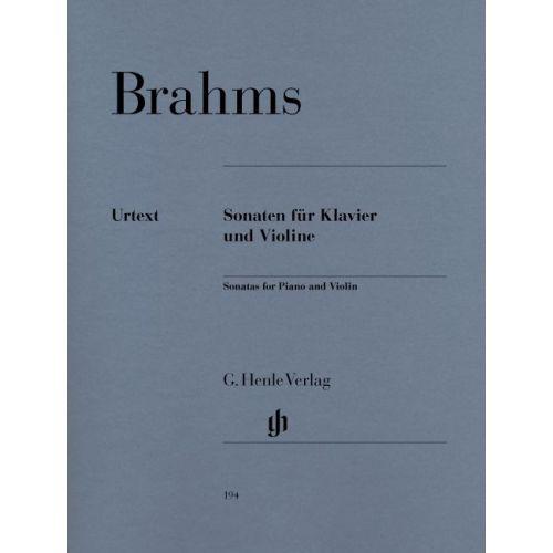 HENLE VERLAG BRAHMS J. - SONATAS FOR PIANO AND VIOLIN