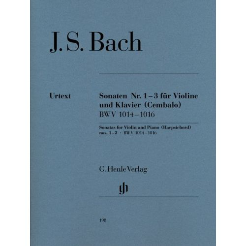 HENLE VERLAG BACH J.S. - SONATAS FOR VIOLIN AND PIANO (HARPSICHORD) 1-3 BWV 1014-1016