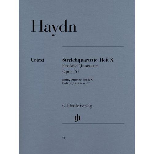HENLE VERLAG HAYDN J. - STRING QUARTETS BOOK X OP. 76 NR. 1-6