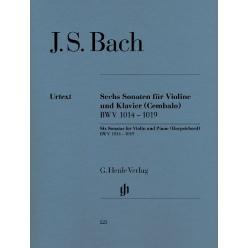 HENLE VERLAG BACH J.S. - 6 SONATAS FOR VIOLIN AND PIANO (HARPSICHORD) BWV 1014 - 1019