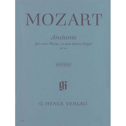 HENLE VERLAG MOZART W.A. - ANDANTE F MAJOR FOR A MUSICAL CLOCK KV 616