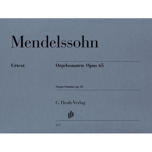 HENLE VERLAG MENDELSSOHN B F. - ORGAN SONATAS OP. 65