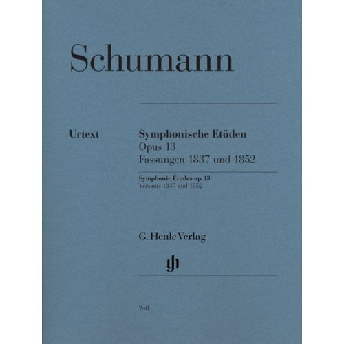 HENLE VERLAG SCHUMANN R. - SYMPHONIC ETUDES OP. 13 (EARLY AND LATE VERSIONS AND 5 POSTHUMOUS VERSIONS)