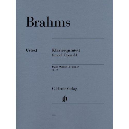 HENLE VERLAG BRAHMS J. - PIANO QUINTET F MINOR OP. 34