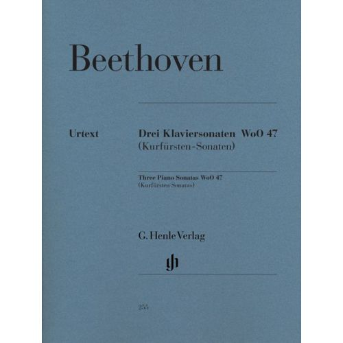 HENLE VERLAG BEETHOVEN L.V. - 3 PIANO SONATAS WOO 47 [KURFURSTEN] - PIANO