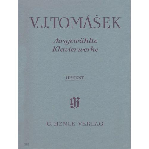 HENLE VERLAG TOMASEK V.J. - SELECTED PIANO WORKS