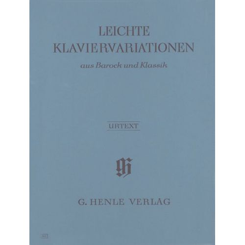 HENLE VERLAG EASY PIANO VARIATIONS FROM THE BAROQUE AND CLASSICAL PERIODS - PIANO