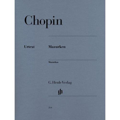 HENLE VERLAG CHOPIN F. - MAZURKAS