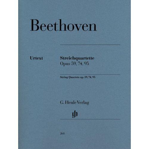 HENLE VERLAG BEETHOVEN L.V. - STRING QUARTETS OP. 59, 74, 95