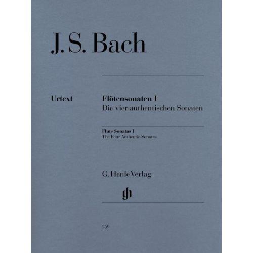HENLE VERLAG BACH J.S. - FLUTE SONATAS, VOLUME I (THE FOUR AUTHENTIC SONATAS - WITH VIOLONCELLO PART)
