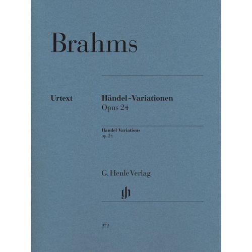 HENLE VERLAG BRAHMS J. - HANDEL VARIATIONS OP. 24