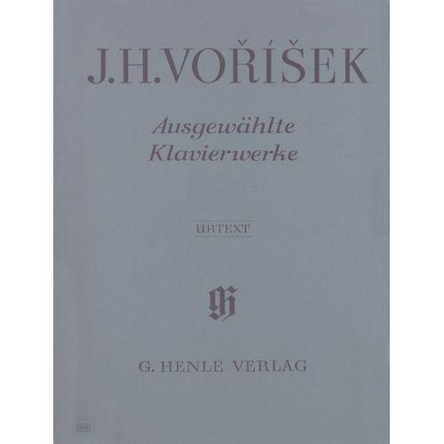 HENLE VERLAG VORISEK J.H. - SELECTED PIANO WORKS
