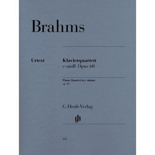 HENLE VERLAG BRAHMS J. - PIANO QUARTET C MINOR OP. 60