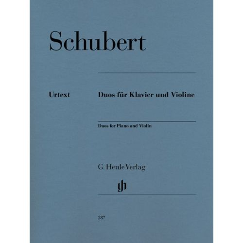 HENLE VERLAG SCHUBERT F. - DUOS FOR PIANO AND VIOLIN