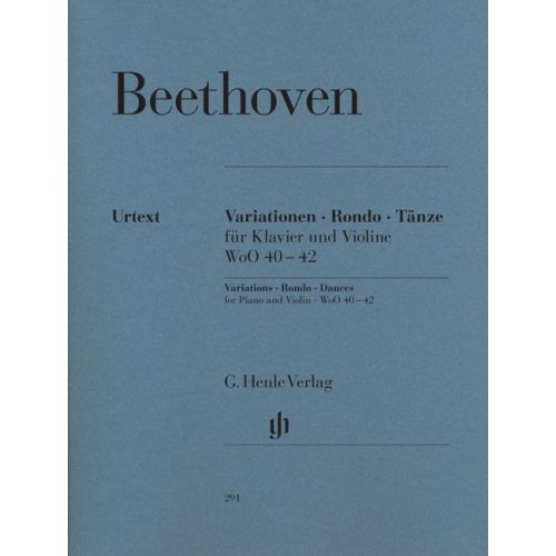 HENLE VERLAG BEETHOVEN L.V. - VARIATIONS, RONDO, DANCES FOR PIANO AND VIOLIN