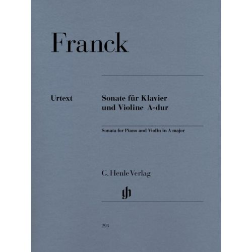 HENLE VERLAG FRANCK C. - SONATA FOR PIANO AND VIOLIN A MAJOR