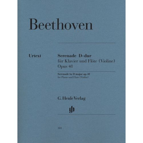 HENLE VERLAG BEETHOVEN L.V. - SERENADE FOR PIANO AND FLUTE (VIOLIN) OP. 41