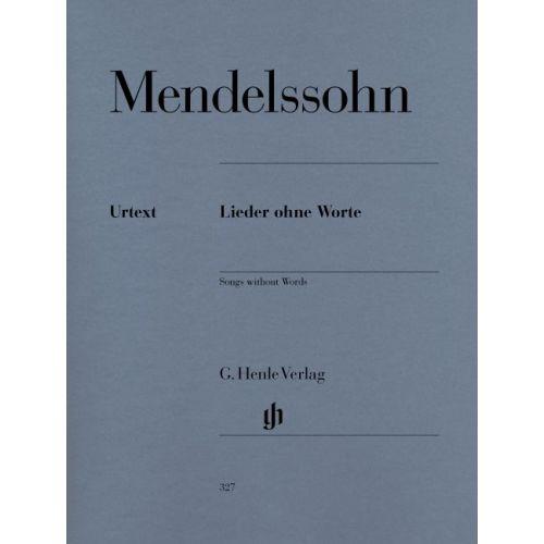 HENLE VERLAG MENDELSSOHN B F. - SONGS WITHOUT WORDS
