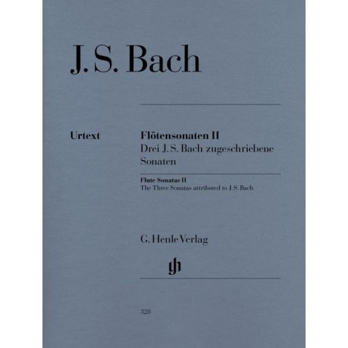 HENLE VERLAG BACH J.S. - FLUTE SONATAS, VOLUME II (3 SONATAS ASCRIBED TO J. S. BACH - WITH VIOLONCELLO PART)