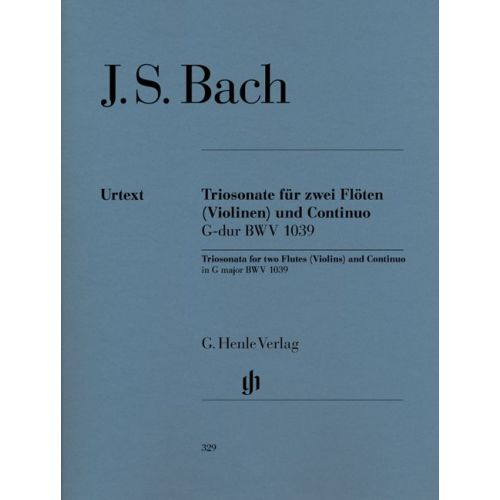 HENLE VERLAG BACH J.S. - TRIO SONATA FOR TWO FLUTES AND BASSO CONTINUO IN G MAJOR BWV 1039