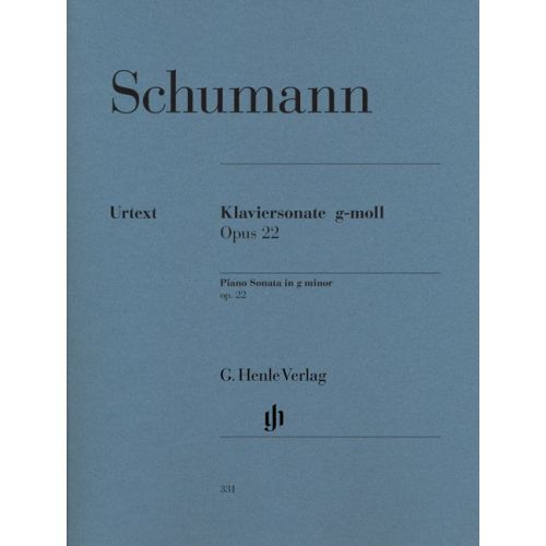HENLE VERLAG SCHUMANN R. - PIANO SONATA G MINOR OP. 22 WITH ORIGINAL LAST MOVEMENT