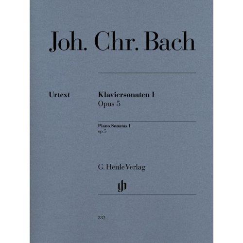 HENLE VERLAG BACH J.C. - PIANO SONATAS, VOLUME I OP. 5