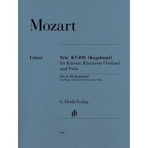 HENLE VERLAG MOZART W.A. - PIANO TRIO E FLAT MAJOR KV 498 (KEGELSTATT-TRIO)
