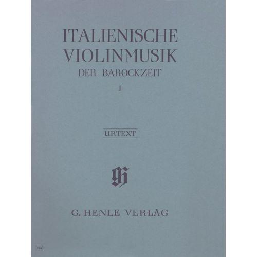 HENLE VERLAG MUSIQUE ITALIENNE DE L'EPOQUE BAROQUE VOL.1
