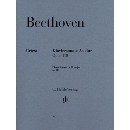 HENLE VERLAG BEETHOVEN L.V. - PIANO SONATA NO. 31 A FLAT MAJOR OP. 110