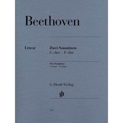HENLE VERLAG BEETHOVEN L.V. - 2 SONATINAS FOR PIANO F MAJOR AND G MAJOR ANH. 5