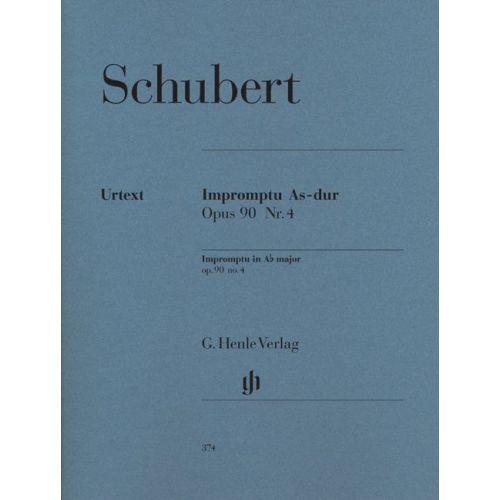 HENLE VERLAG SCHUBERT F. - IMPROMPTU A FLAT MAJOR OP. 90,4 D 899