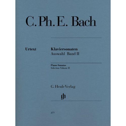 HENLE VERLAG BACH C.P.E. - SELECTED PIANO SONATAS, VOLUME II